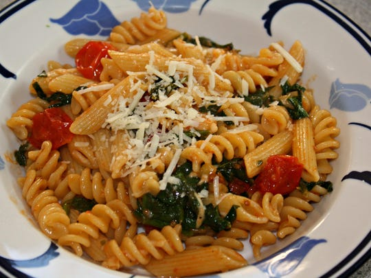 If you have 30 minutes… make Pasta with Cherry Tomatoes and Spinach.