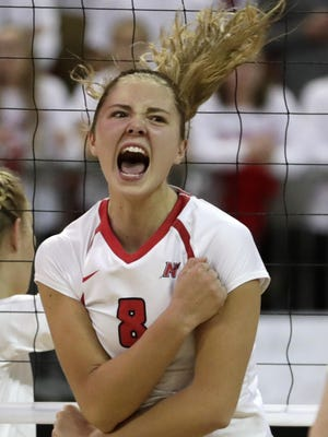 Neenah's Hope Werch was one of 13 players from the Fox Valley to make the Wisconsin Volleyball Coaches Association all-state team this season.