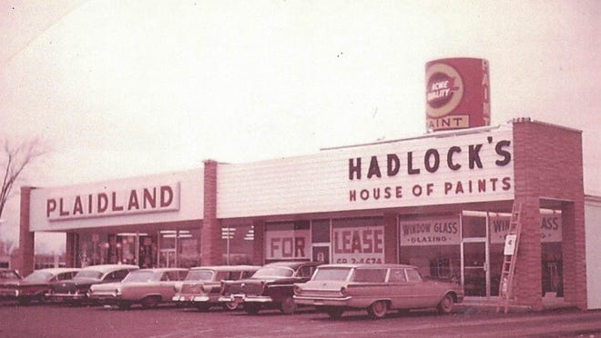 This circa 1960s photo shows the Henrietta location of Hadlock's House of Paint.