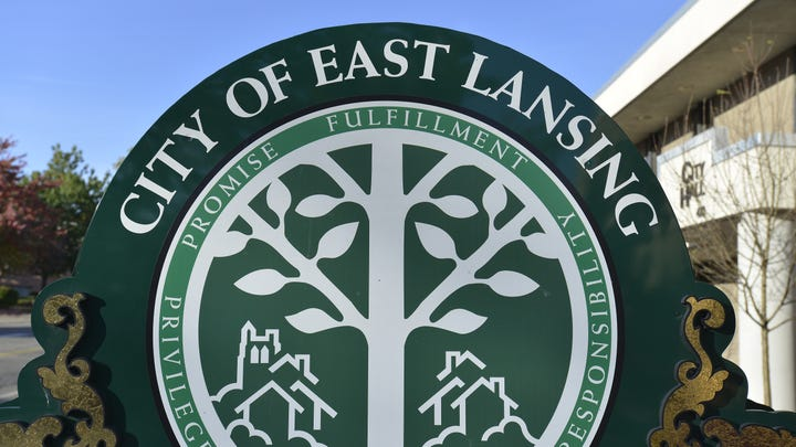 Seal of East Lansing   in East Lansing Friday 10/11/2013 .   (Lansing State Journal | Rod Sanford)