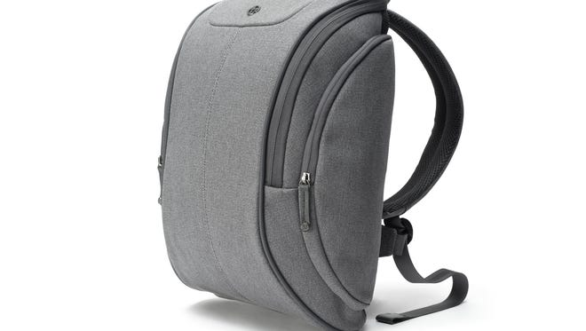 This backpack from booq includes 13 compartments and is water-repellant.
