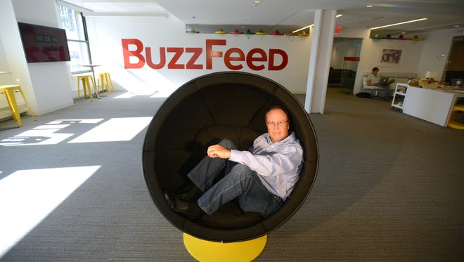Greg Coleman, the new president of BuzzFeed, is seen in offices in Manhattan.