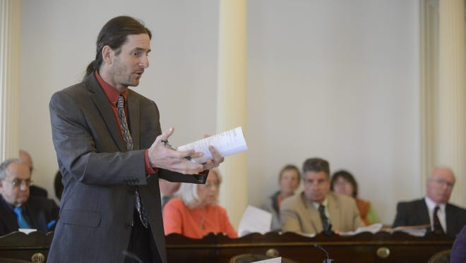 Sen. David Zuckerman, P/D-Chittenden, pictured at the Statehouse in May, intends to run for lieutenant governor in 2016.