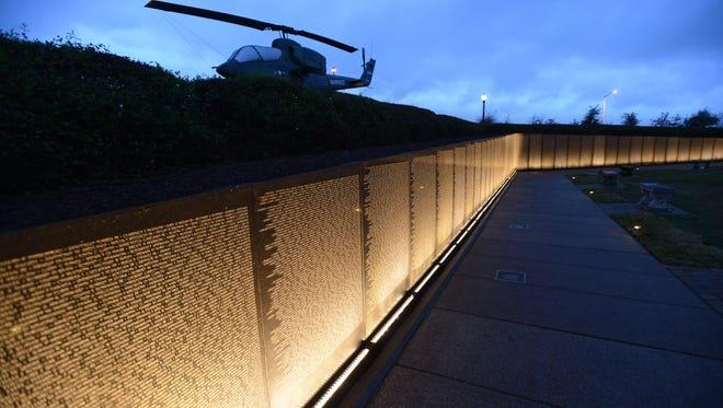 Wall South at Veterans Memorial Park.