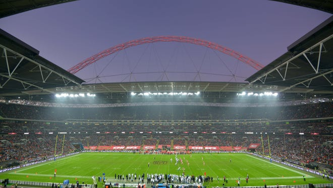 General view of game 14 of the NFL International Series between the Detroit Lions and the Kansas City Chiefs at Wembley Stadum.