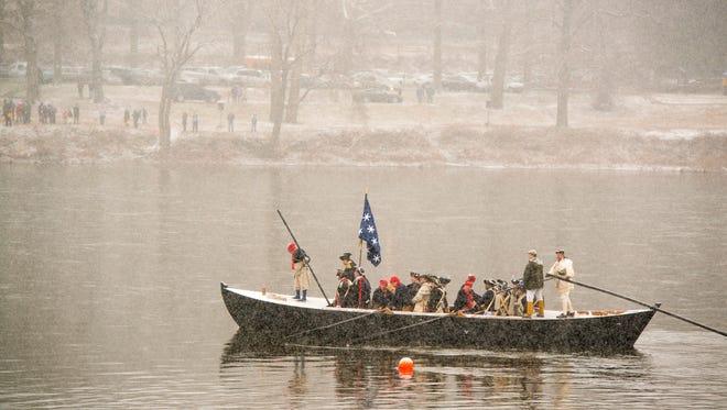 Re-live history on Dec. 25, as Washington crosses the Delaware.