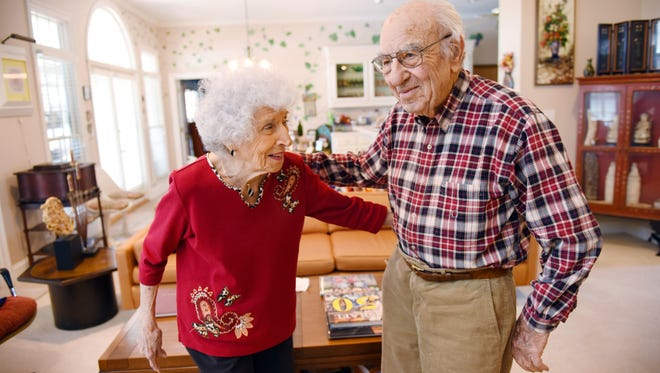 Ellis and Reva Hart have learned many lessons in their 73 years of marriage. The couple now lives at Lake Caroline in Madison County.