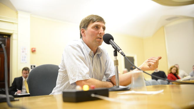 Green Cab VT owner Charlie Herrick told councilors he opposed the vehicle-for-hire ordinance that permits ride-hailing services like Uber to operate in Burlington.