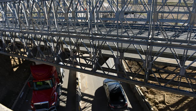 A temporary bridge was built on I-29 and over 229 on Thursday, March 17, 2016.