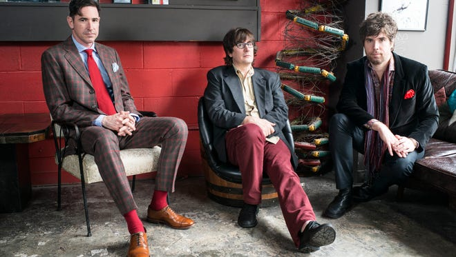The Mountain Goats, from left, Jon Wurster, John Darnielle and Peter Hughes.