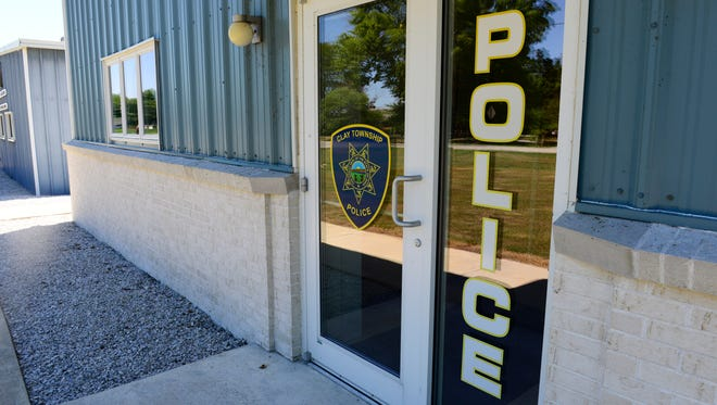 Clay Township Police at 21774 Holts East Rd, Genoa.