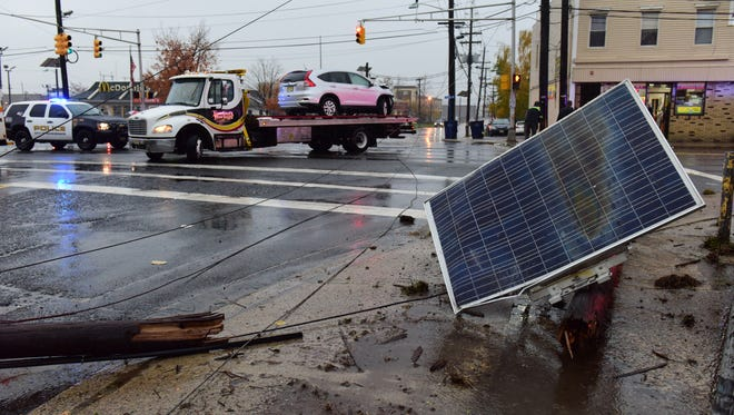 A multiple car accident brought down a utility pole on Essex St and Newman St Tuesday morning, November 15th. The intersection is closed to all traffic while repairs are being made.