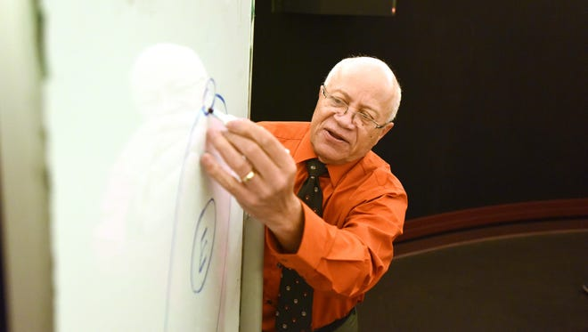 Gary Swangin, a planetarium educator for 50 years who now runs Paterson's Panther Academy planetarium, has become the namesake of a new planetarium in Afghanistan.