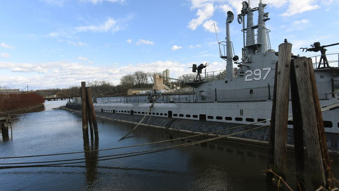USS Ling, the submarine docked in the Hackensack River adjacent to and part of the New Jersey Naval Museum