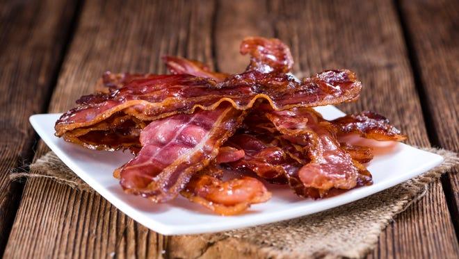 Fried bacon! Nom nom.