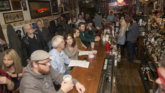 The front bar of Arnold's did not take long for beer lovers to show up and fill the room and sample some the great beers available.