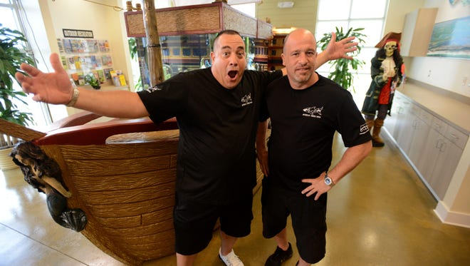 "Wayde King (left) and Brett Raymer, co-stars of Animal Planet's ""Tanked"" will appear Saturday and Sunday at the Corpus Christi Home & Garden Show at American Bank Center."