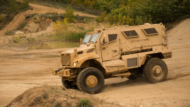 An MRAP MaxxPro Army vehicle made at the Navistar plant in West Point. The plant won a new contract with the U.S. Army.