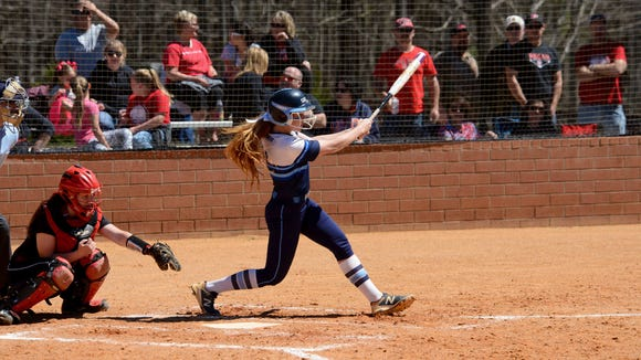 Enka senior Mariah Foxworth was the winning pitcher and hit a three-run homer in Saturday's 11-0 home victory over previously-undefeated Pisgah.