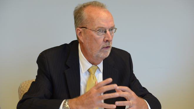 In this Sept. 7, 2016, Sen. Jim Whelan (D) of Atlantic County  meets with The Record's editorial board.