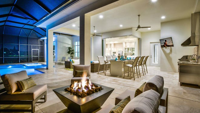 The Useppa model by Stock Signature Homes at Hidden Harbor in South Fort Myers.
