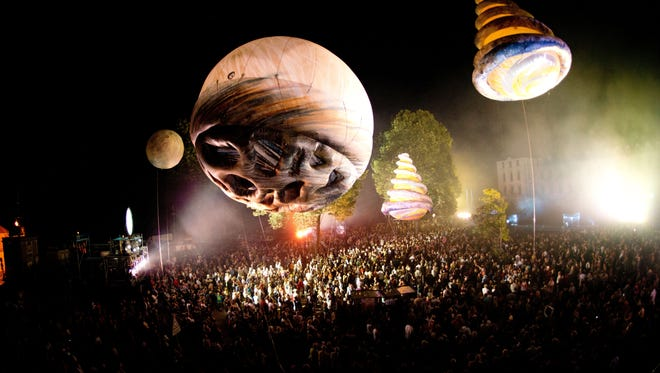 Among the KeyBank Rochester Fringe Festival highlights: World-renowned French companyPlasticiensVolants' BIG BANG will bring giant inflatable creatures and projected images, music and pyrotechnics to Parcel 5 in free shows Friday and Saturday, Sept. 15 and 16, 2017.