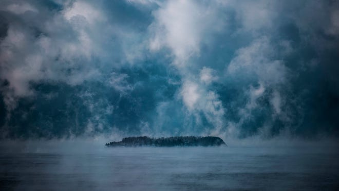 Steam rises from the waters of Lake Champlain, seen from Burlington on Tuesday, Jan. 2, 2018. As temperatures dropped into the negative double digits, the comparatively warm lake water released a cloud of steam that hung over the lake much of the day.