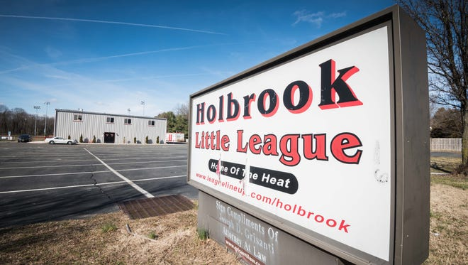 Holbrook Little League's headquarters in Jackson on Saturday, Feb. 17, 2018. The league's former president, Tony Del Vecchio, and former treasurer, John Lehmann, were charged with second-degree theft and conspiracy to commit theft after allegedly misappropriating $118,000 for their own benefit.