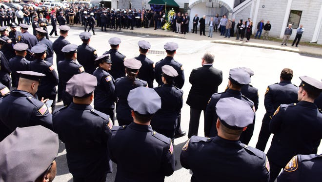 Funeral held for Paterson Police Officer Tamby Yagan held in Wayne on April 24.