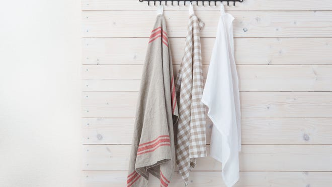 Kitchen towels carry bacteria potentially leading to food poisoning, a new study found.