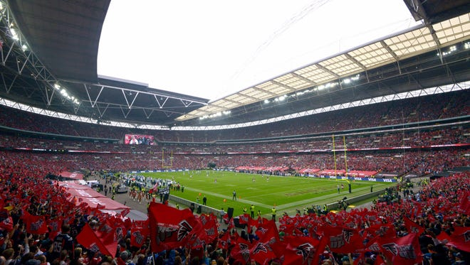 Wembley Stadium in London before the Lions-Falcons on Oct. 26.