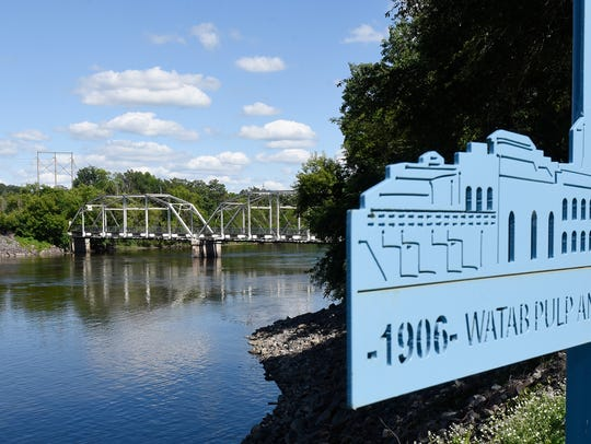The old bridge over the Mississippi River in Sartell