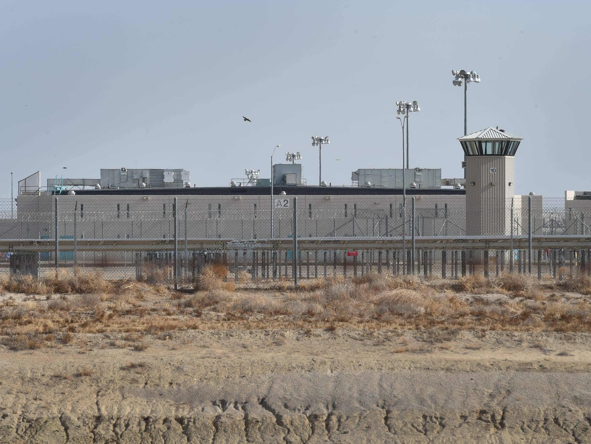 California State Prison, Los Angeles County is photographed