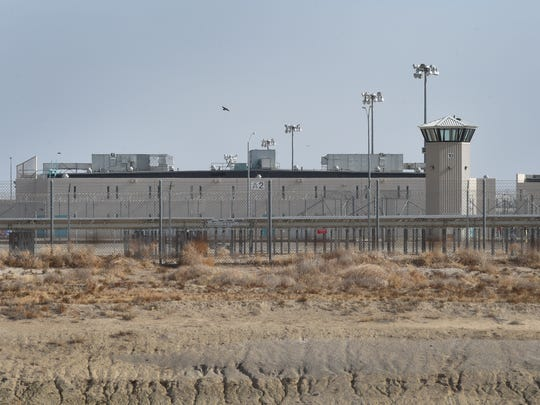 California State Prison, Los Angeles County is photographed during a tour in December.