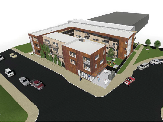 Cresco, seen here in a rendering, will consist primarily of studio and one-bedroom units. It will be marketed to college students.