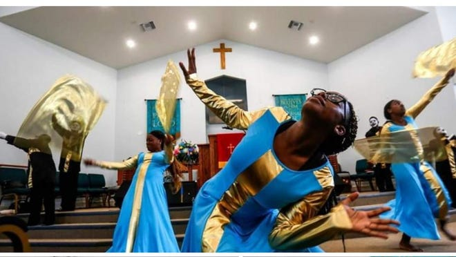 The Atmosphere Shifters, the dance ministry at Dayspring Missionary Church,   performed an inspiring liturgical dance at last year's camp finale.