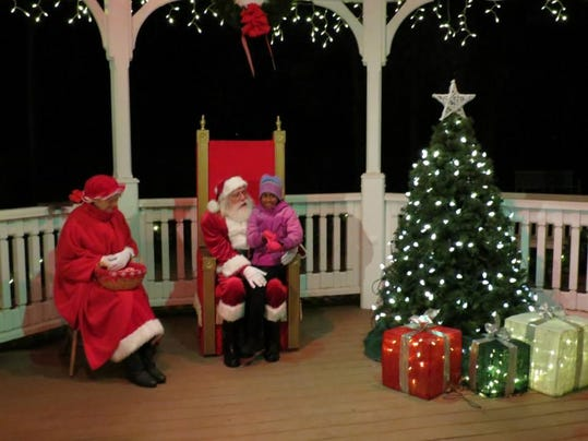 ride with santa - wide shot
