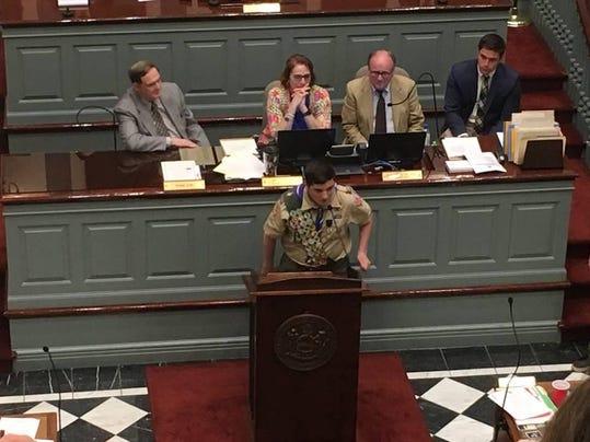 Laning Speaks to Legislators