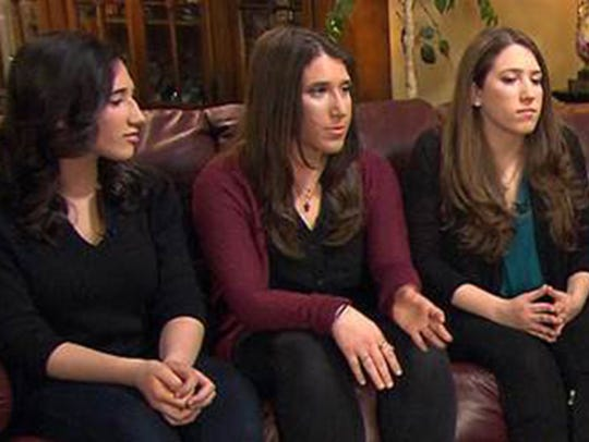 Ellen Brody's daughters, Alexa, left; Julia; and Danielle