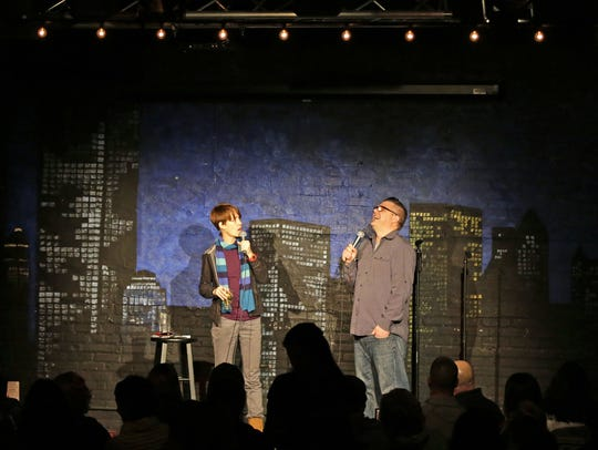 Comedians Tim Harmston and Mary Mack perform at Skyline
