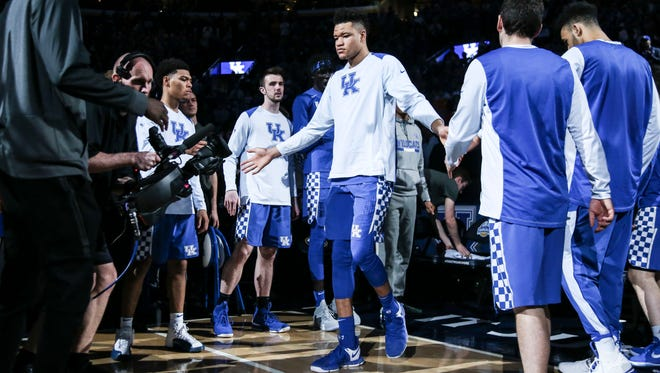 Kevin Knox is introduced before the SEC Championship game in St. Louis in early March.