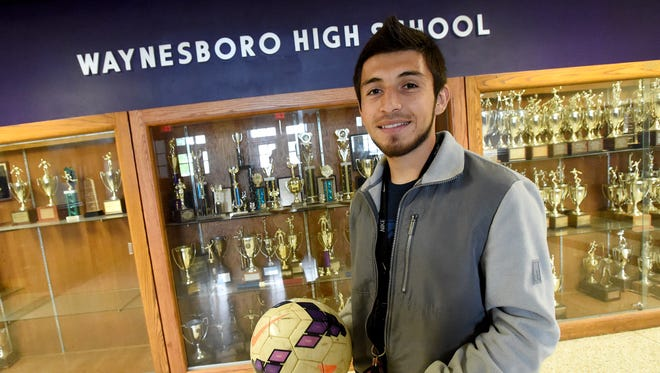 Passionate about soccer, senior Nero Teran Vazquez  chose to set aside playing soccer to make sure he had more time for family, school and work. Vazquez is photographed at the school on Friday, May 6, 2016.