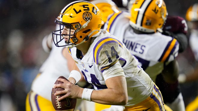 LSU is expected to start freshman quarterback Max Johnson against the  Gators on Saturday.