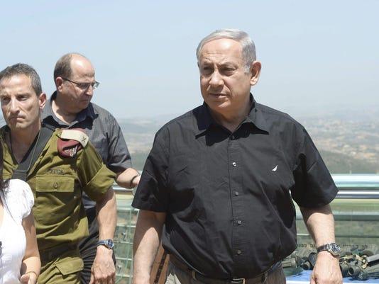 Israel PM Netanyahu visits Lebanon border