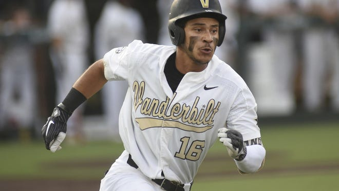 Vanderbilt's Austin Martin is one of the top prospects for tonight's MLB draft.