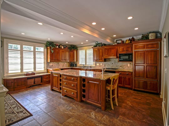 The kitchen was created out of space that had been used as a porch.
