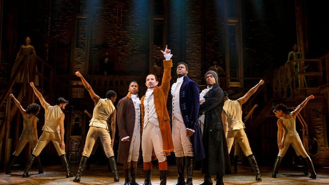 """The blockbuster Broadway show """"Hamilton"""" will be in East Lansing May 14-June 2."""