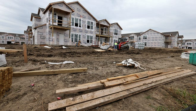 Springs at Waukee Apartments are under construction. Demand for apartments varies throughout the metro area.