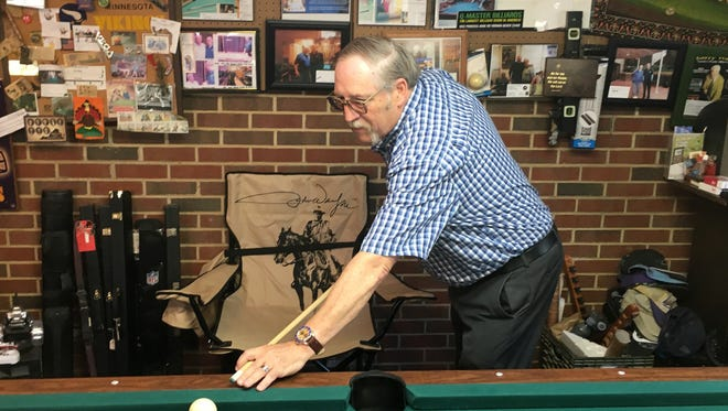 Ron Dooley has put together his own DVD of billiard trick shots and is hoping, when he retires from his day job, to begin entering some trick shot tournaments.