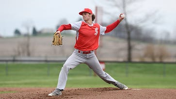 Sheridan's Dylan Dupler pitches against Tri-Valley last season. Dupler is one of seven returning starters for the Generals, who aim to defend their MVL title.